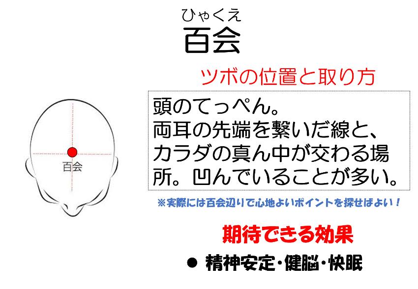 ツボ「百会」 - 妙蓮寺ゆう鍼灸院 東洋医学ブログ
